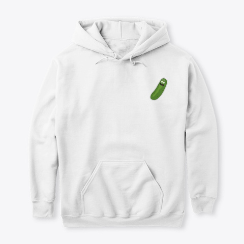 Pickle Rick White T-Shirt Front