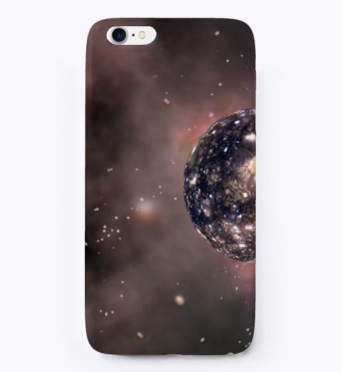 Planet Design Phone Case  Black T-Shirt Front