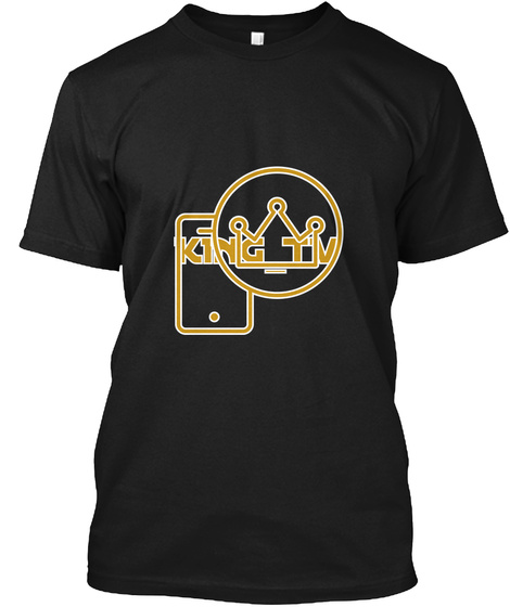 King Tv Black T-Shirt Front
