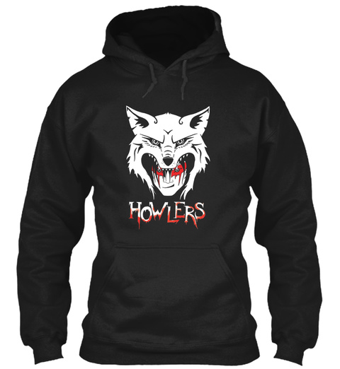 Howlers Black T-Shirt Front