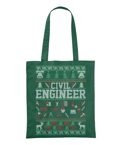 Civil Engineer Bottle Green T-Shirt Front