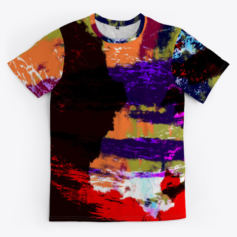 Hina   Colorful Tie Dye Style Pattern Standard T-Shirt Front
