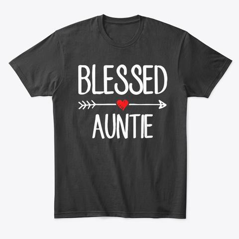 Women Aunt Auntie Girl Gift Black T-Shirt Front