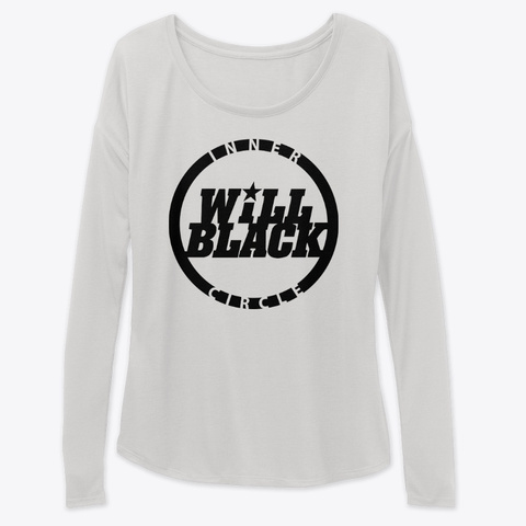 Inner Circle Flowy Long Sleeve Shirt Athletic Heather Long Sleeve T-Shirt Front