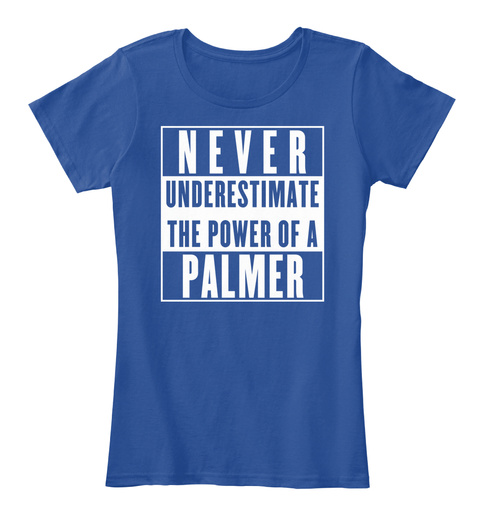 Palmer This Is My Power. Deep Royal  T-Shirt Front