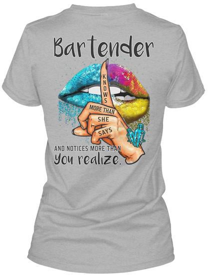 Awesome Bartender Sport Grey T-Shirt Back