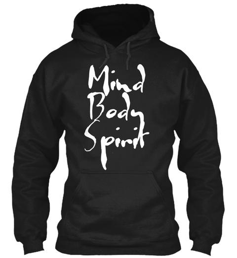 Mind Body Spirit Black T-Shirt Front