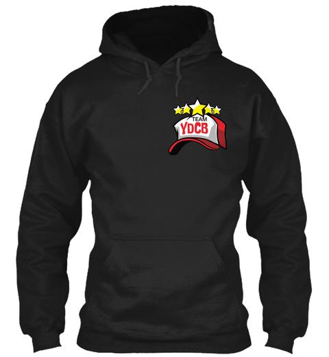 Team Ydcb Hoodies!  Black T-Shirt Front