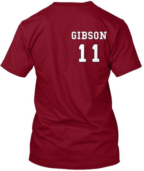 Gobson 11 Cranberry T-Shirt Back
