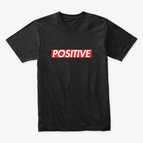 Simply Positive Teacher Shirts Black T-Shirt Front