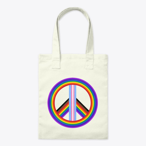 Peace And Pride Tote Natural T-Shirt Front