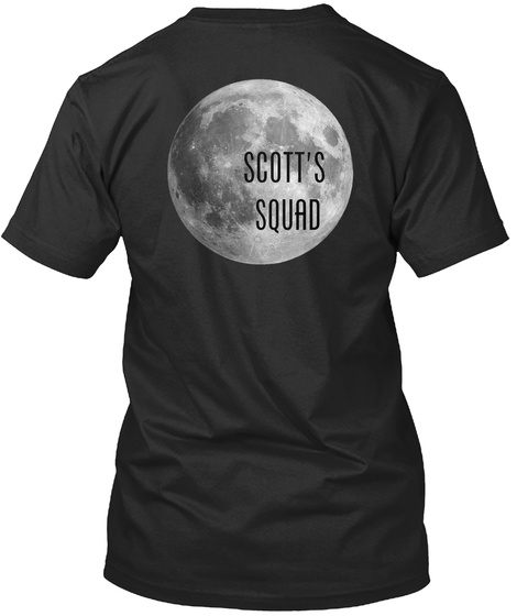 Scott's  Squad Black áo T-Shirt Back