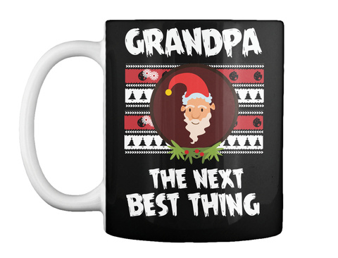Grandpa The Next Best Thing Black Kaos Front
