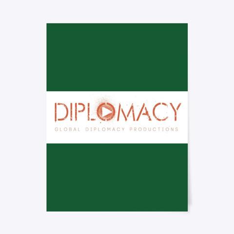 Global Diplomacy   Logo Dark Green T-Shirt Front