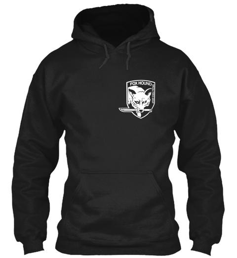 Fox Hound Black T-Shirt Front