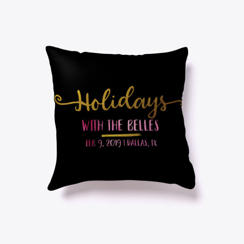5th Annual Holidays With The Belles Black T-Shirt Front