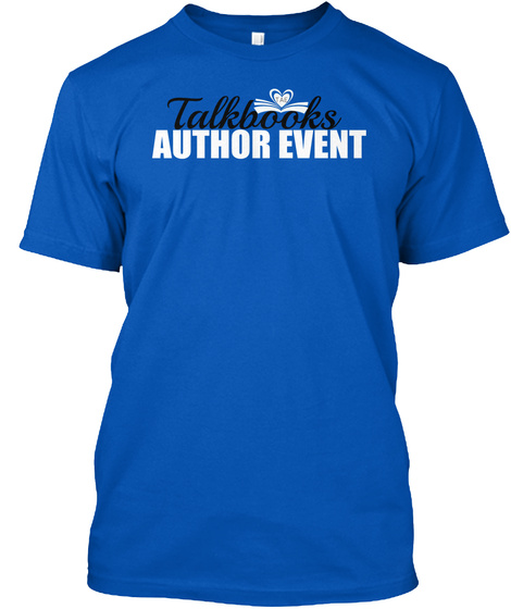 Talkbooks Author Event Royal T-Shirt Front