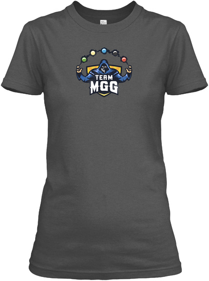 Team Mgg Charcoal Women's T-Shirt Front