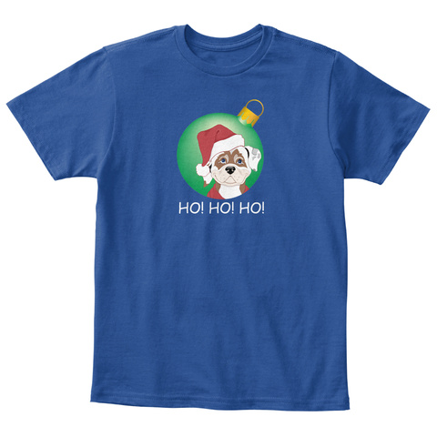 Ho!Ho!Ho! Kids Deep Royal  T-Shirt Front