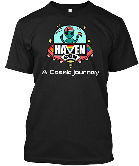 Atx Haven Con A Cosmic Journey Black T-Shirt Front
