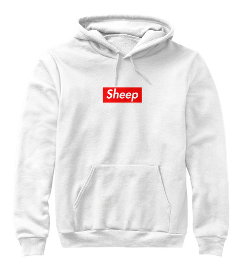 Sheep White Sweatshirt Front