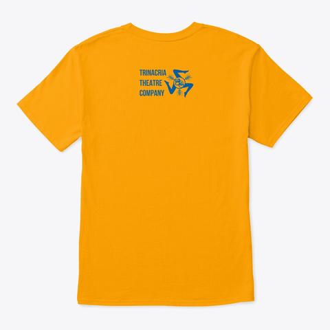 Messina Duomo Clocktower Gold T-Shirt Back