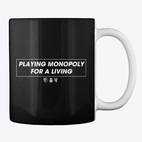 Playing Monopoly For A Living Black T-Shirt Back