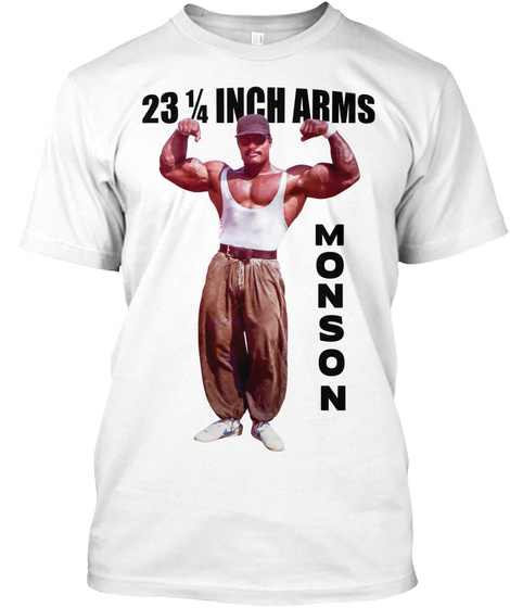 23 1/4 Inch Arms Monson White T-Shirt Front