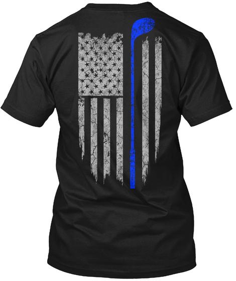 Golf   Usa Flag Black T-Shirt Back