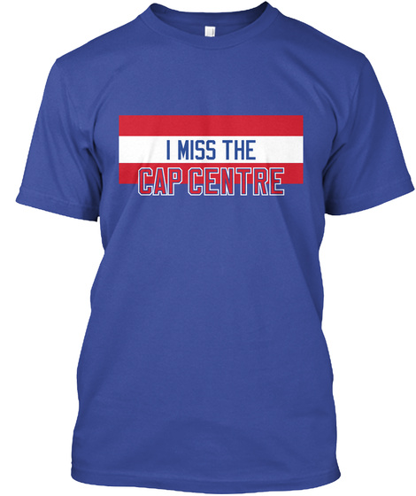 I Miss The Cap Centre Deep Royal T-Shirt Front