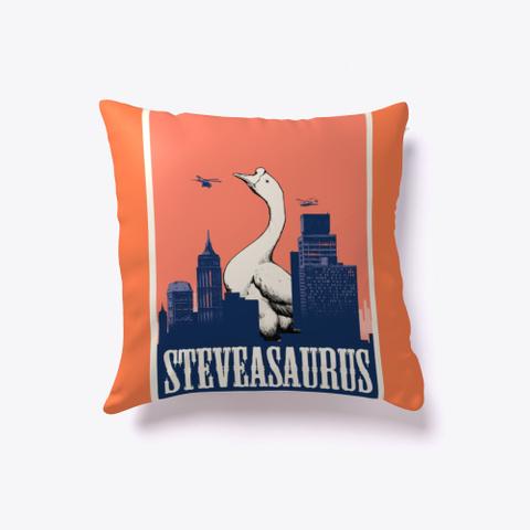 Steveasaurus Pillow Coral T-Shirt Front