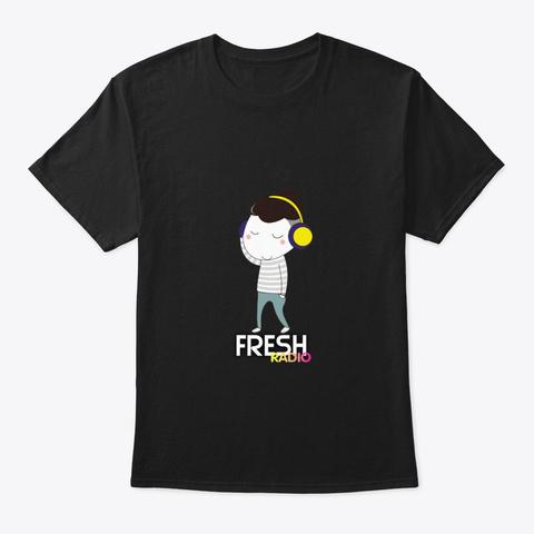 Camiseta Manga Corta Fresh Radio Musica Black T-Shirt Front