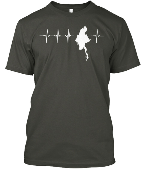 Myanmar Holiday Gift Smoke Gray T-Shirt Front