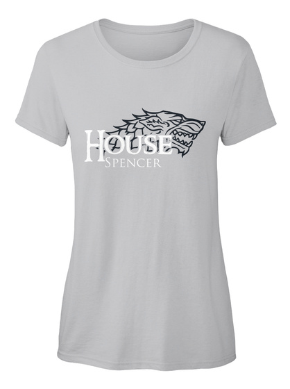 Spencer Family House   Wolf Sport Grey T-Shirt Front