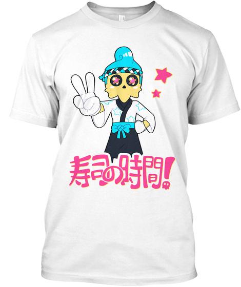 Sculli   Sushi Time! White T-Shirt Front
