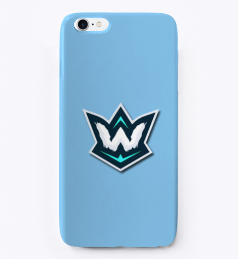 I Phone Case Light Blue T-Shirt Front