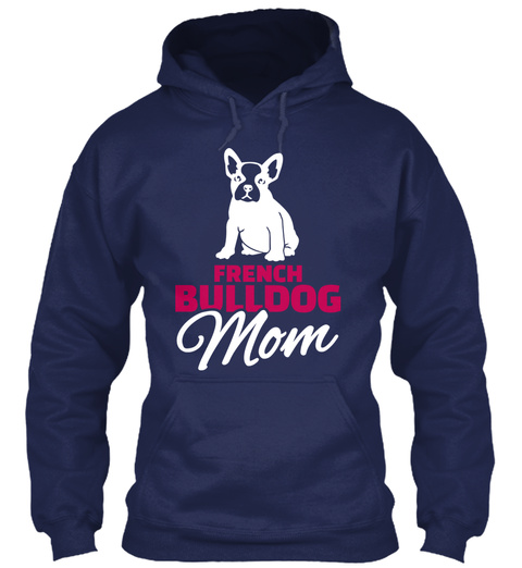 French Bulldog Mom Navy T-Shirt Front