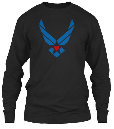 Air Force Wing Beautiful T'shirt Black T-Shirt Front