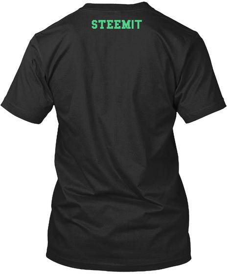 Stee Mit Vintage Black T-Shirt Back