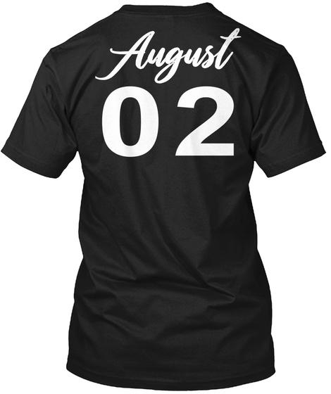 August 02   Leo Black T-Shirt Back