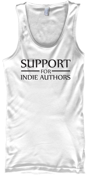 Support Indie Authors New Logo Tank! White T-Shirt Front