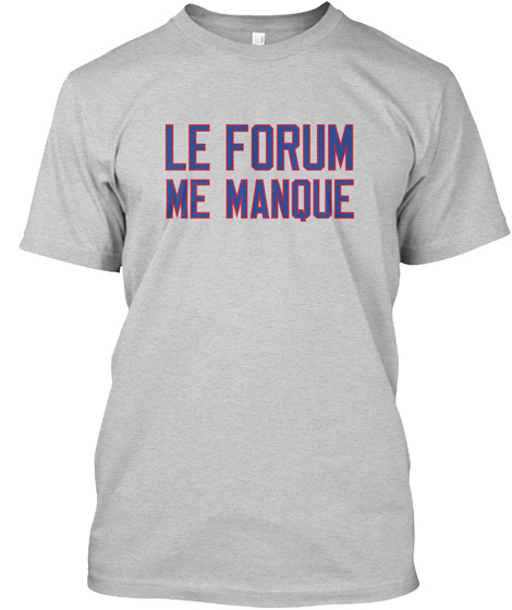 Naming Wrongs: Le Forum (Grey) Light Steel T-Shirt Front