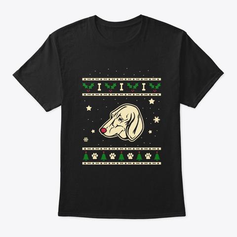 Xmas Anglo Francais Petit Venerie Gift Black T-Shirt Front