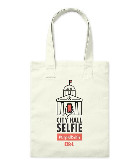 2018 City Hall Selfie #Cityhallselfie Elgl Natural Tote Bag Front