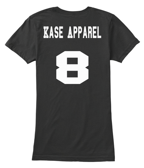 Kase Apparel 8 Black Women's T-Shirt Back