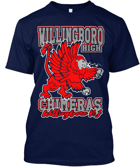 """The Boro"" Chimera Tshirt Navy T-Shirt Front"