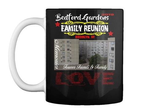 Bedford Gardens Reunion Mug 2018 Black Mug Front
