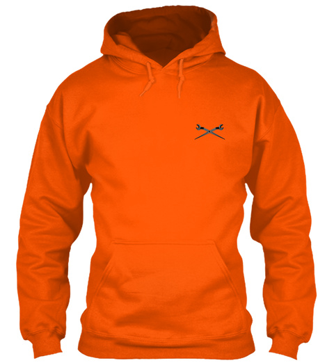 Ironworker Hoodie Christmas Special Safety Orange T-Shirt Front