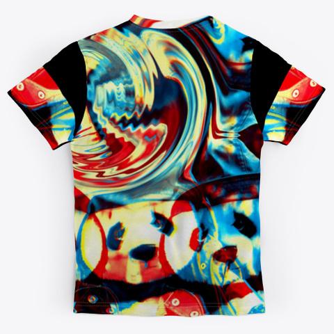 Bc Cat Panda0404 Black T-Shirt Back