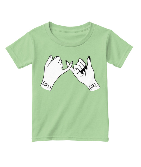 Girls Girl Pinky Promise Tee (Toddler) Mint Green T-Shirt Front